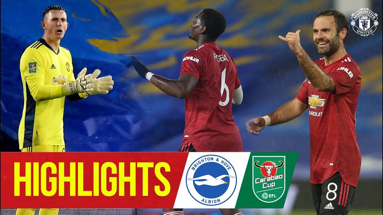 Highlights | Brighton 0-3 Manchester United | McTominay Mata & Pogba fire Reds through | Carabao Cup