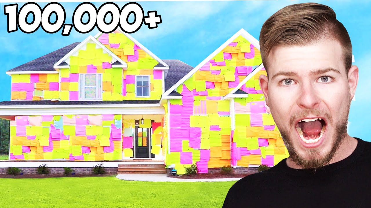 I Covered Karl's House In Sticky Notes