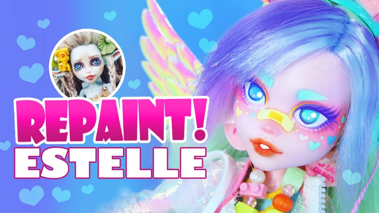 Repaint! Estelle the Pastel Rainbow Art Doll – H ALI Crafts Collaboration