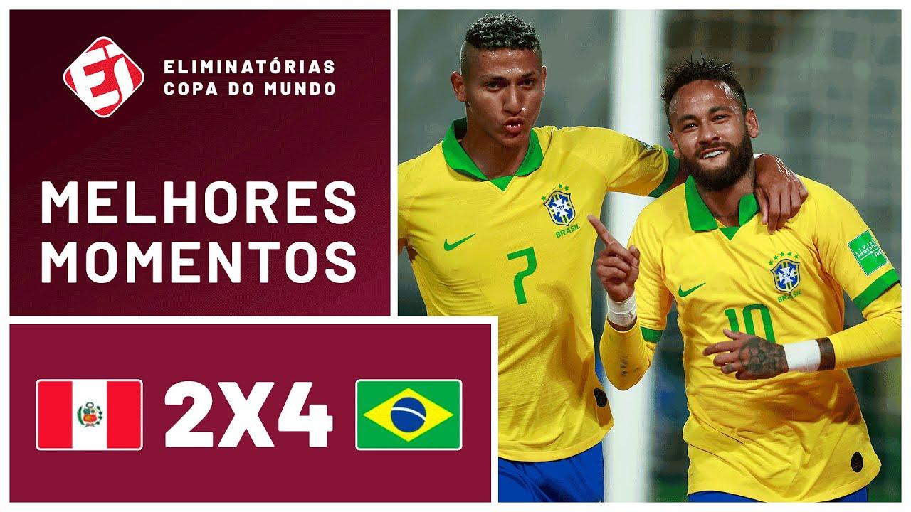 SHOW DE NEYMAR! BRASIL VENCE O PERU NAS ELIMINATÓRIAS DA COPA – MELHORES MOMENTOS (13/10/2020)