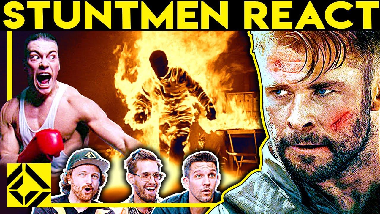 Stuntmen React To Bad & Great Hollywood Stunts 21
