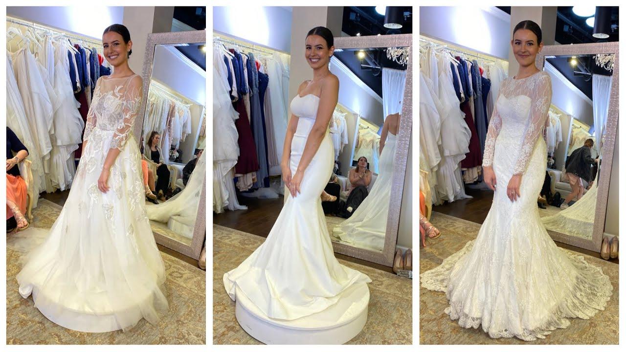 TRYING ON WEDDING DRESSES | Lisa Cimorelli