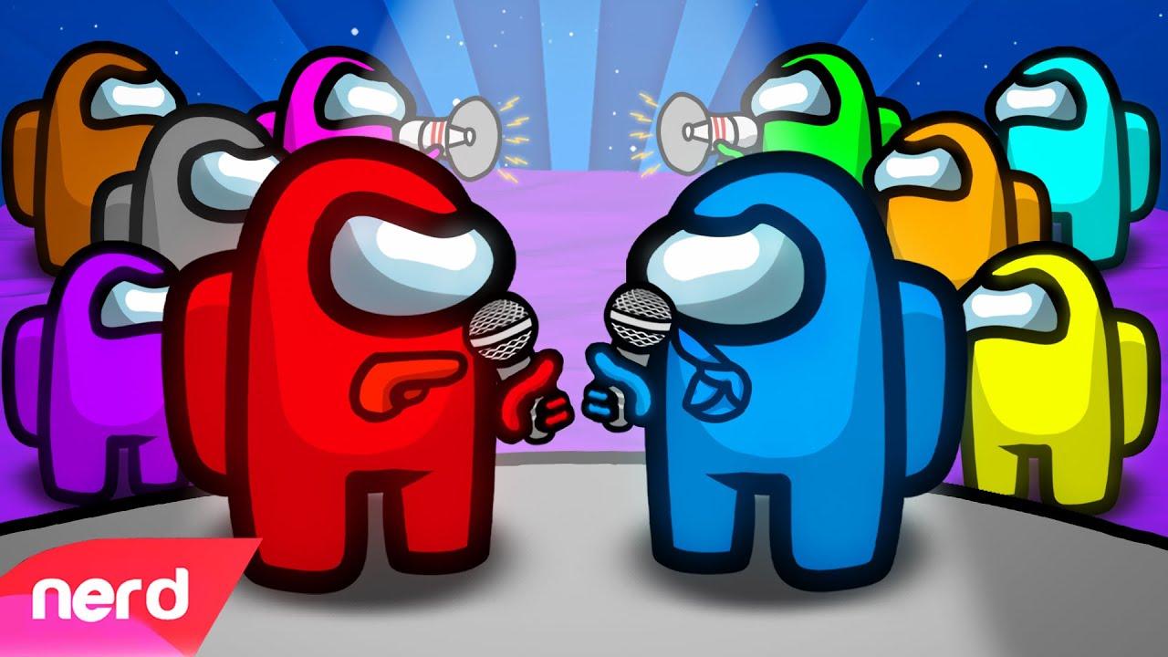 The Among Us Rap Battle | #NerdOut ft CG5, Pokimane, Preston, Loserfruit & More [Among Us Animation]