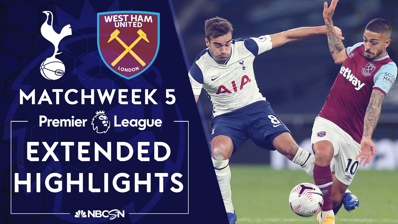 Tottenham v. West Ham United | PREMIER LEAGUE HIGHLIGHTS | 10/18/2020 | NBC Sports