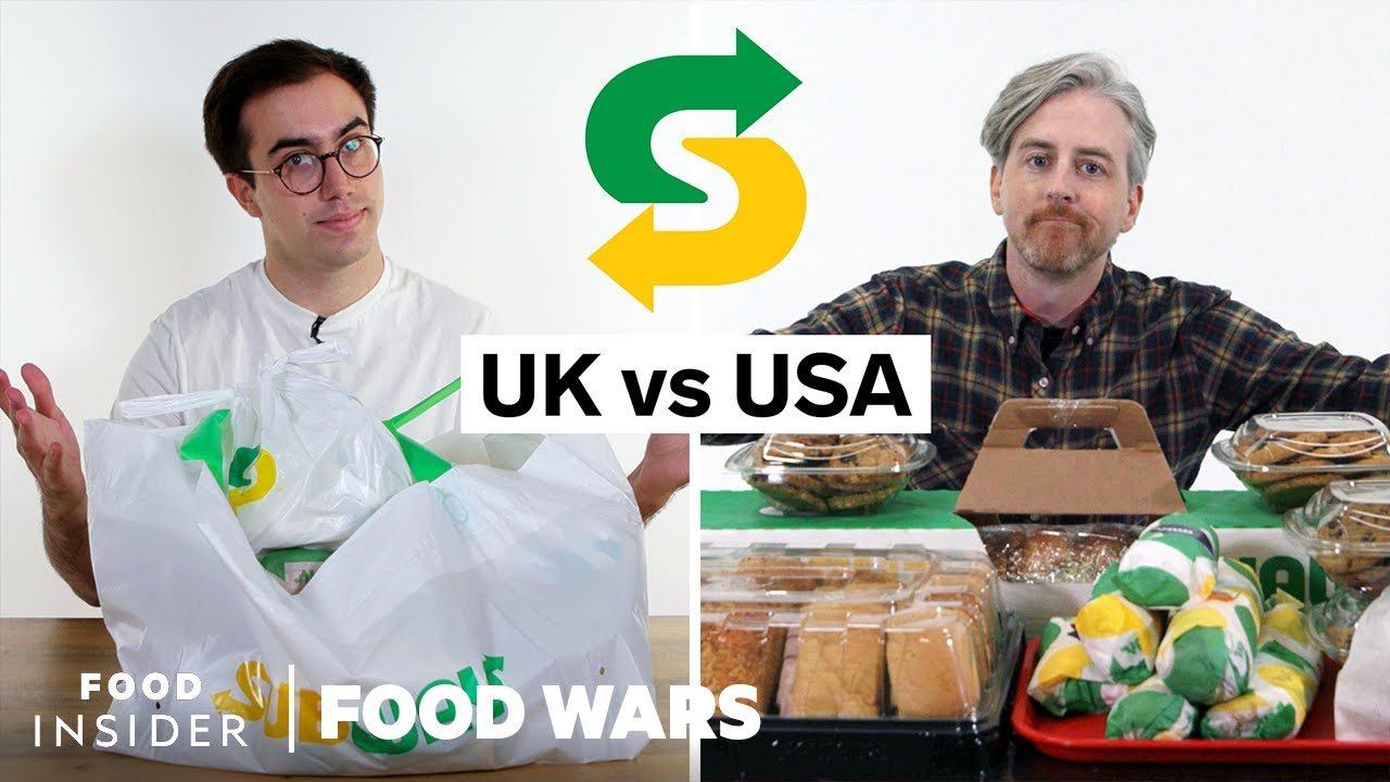 US vs UK Subway | Food Wars