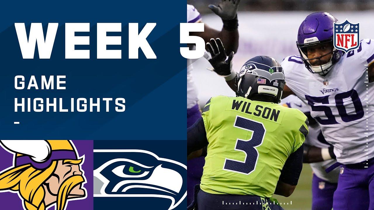 Vikings vs. Seahawks Week 5 Highlights   NFL 2020