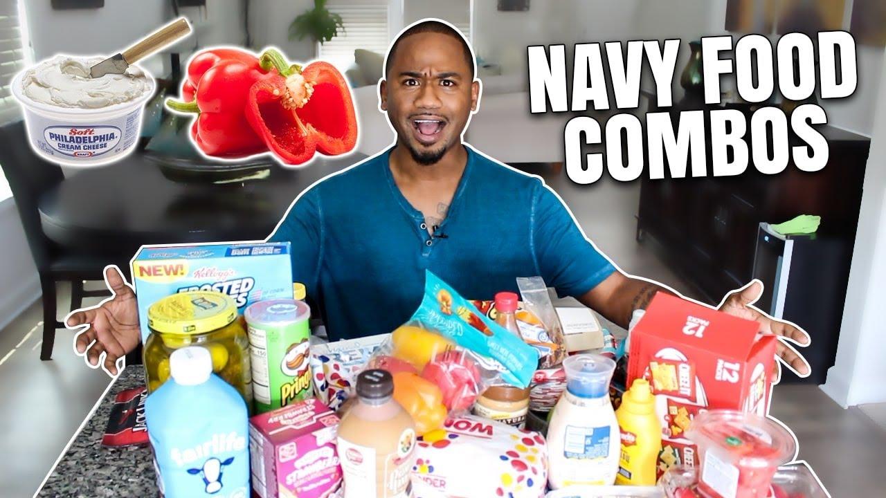 WEIRD FOOD COMBOS!! NAVY EDITION (pt 1) | Alonzo Lerone