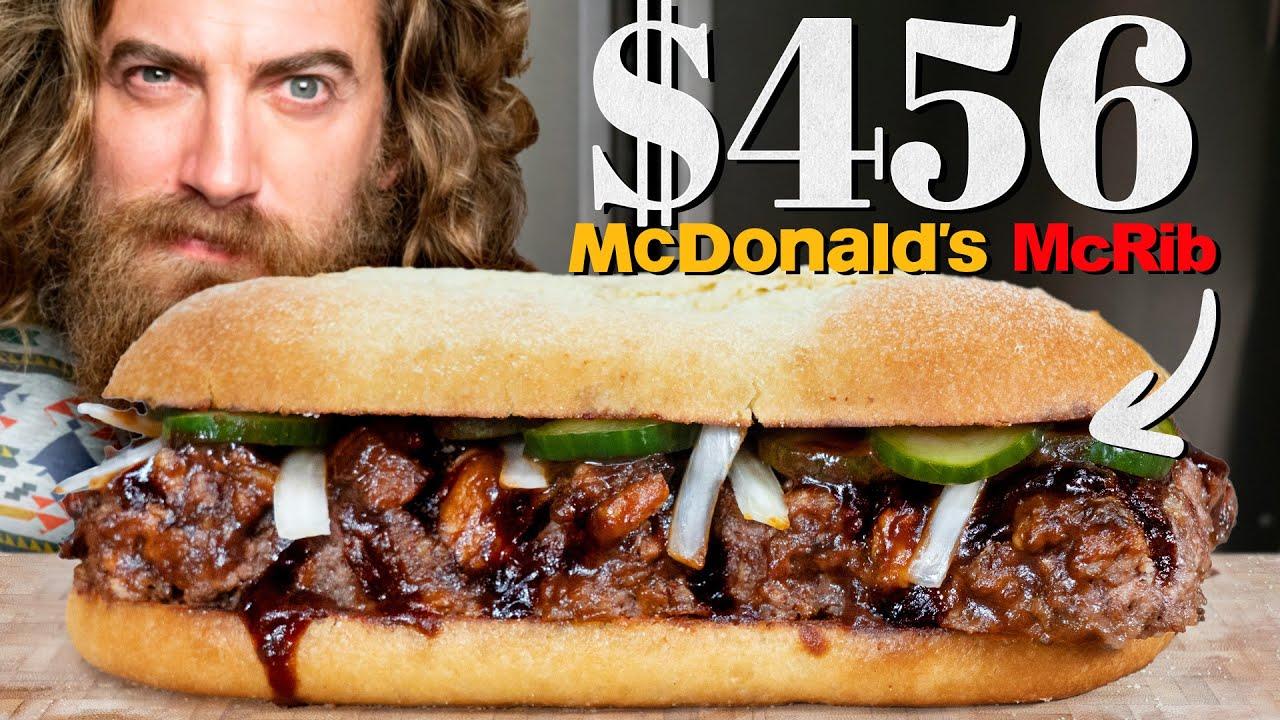 $456 McDonald's McRib Taste Test | Fancy Fast Food