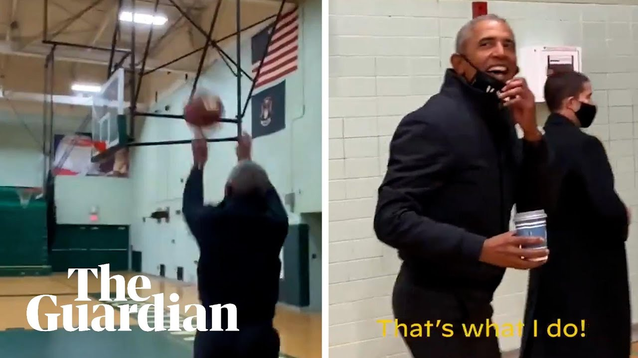 'All net': Barack Obama hits silky three-pointer on campaign trail