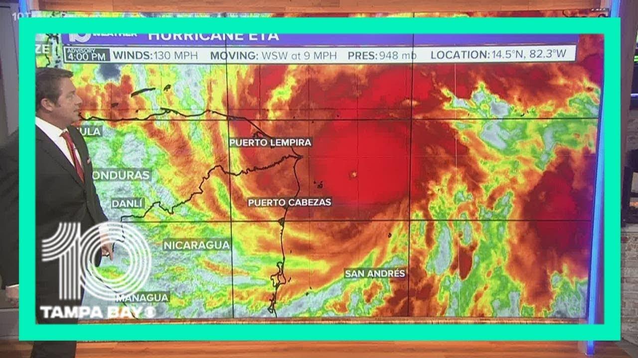 Hurricane Eta rapidly intensifies, now a major Category 4 hurricane