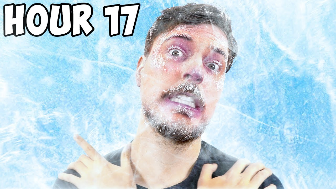 I Survived 24 Hours Straight In Ice