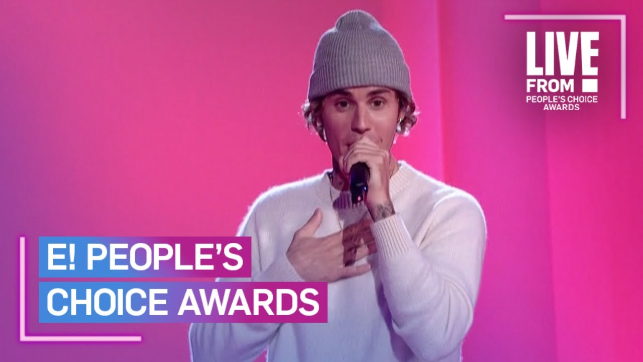 """Justin Bieber Performs """"Lonely"""" & """"Holy"""" at 2020 People's Choice Awards 
