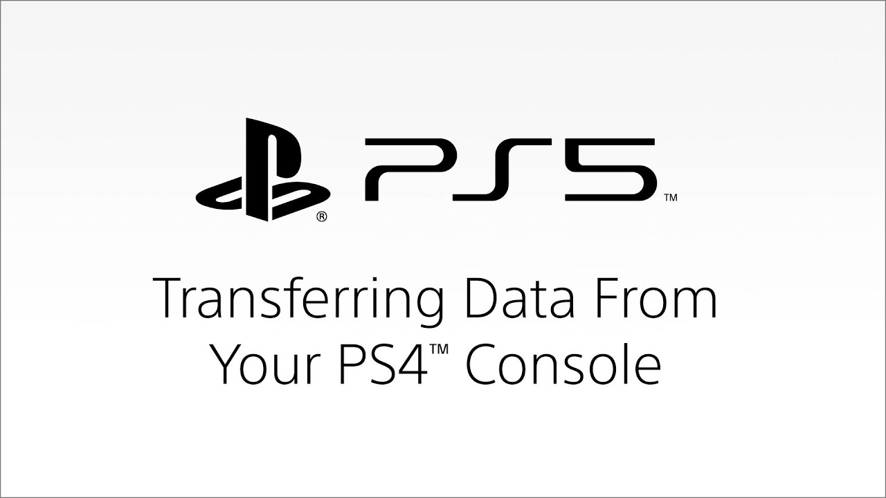 PS5 – Transferring Data From Your PS4 Console