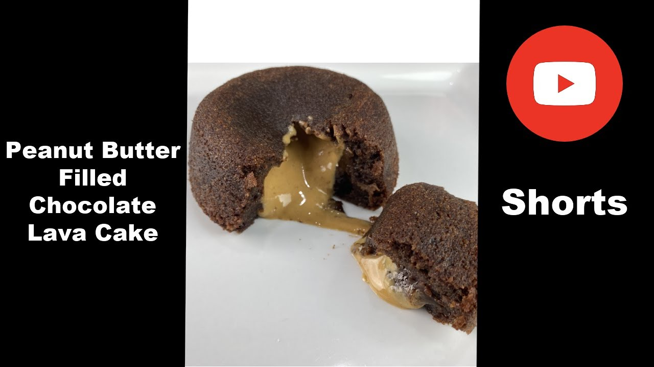 Peanut Butter Filled Chocolate Lava Cake #Shorts