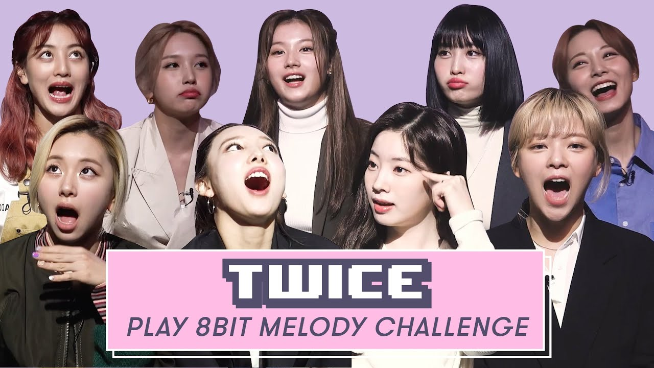TWICE Sings Billie Eilish, Justin Bieber, and More  | 8 Bit Melody Challenge