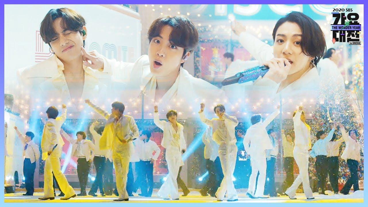 방탄소년단, 한겨울 디스코 파티 ♬Dynamite♬ㅣ2020 SBS 가요대전 in DAEGU(sbs 2020 K-Pop Awards)ㅣSBS ENTER.