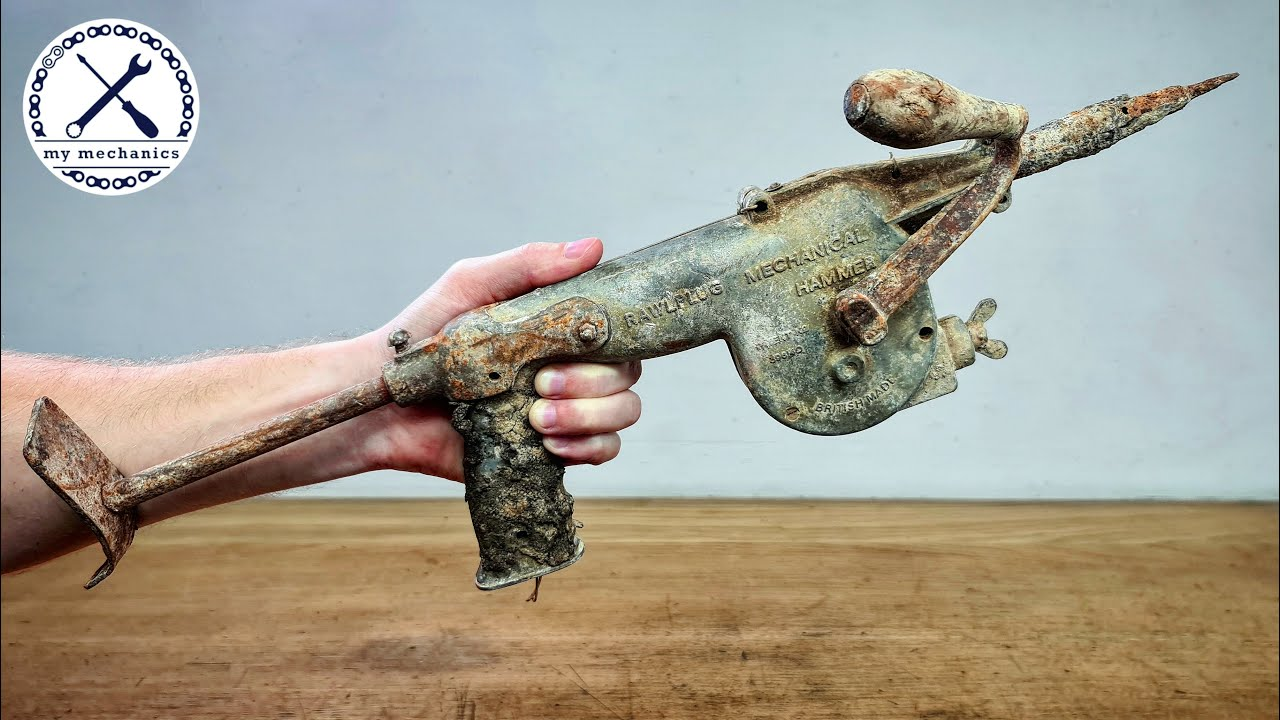 Antique Hand Cranked Hammer Drill – Restoration