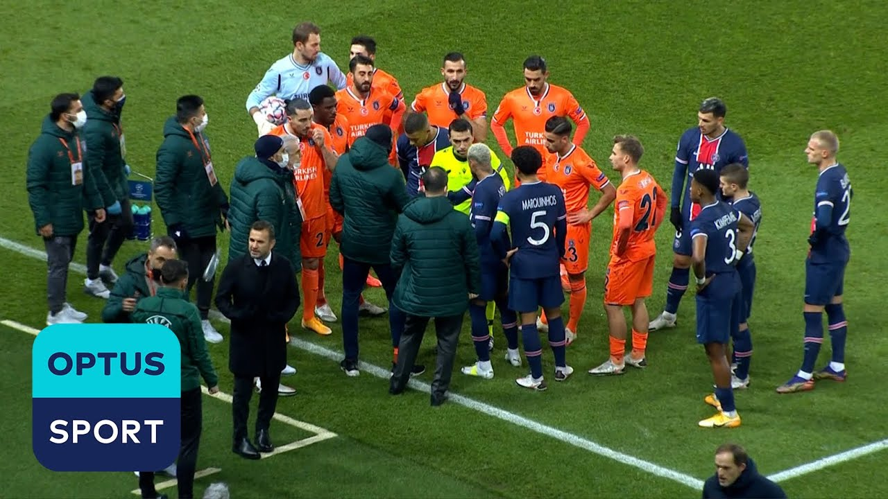 Basaksehir WALK OFF the field in protest against racism during Champions League tie against Paris