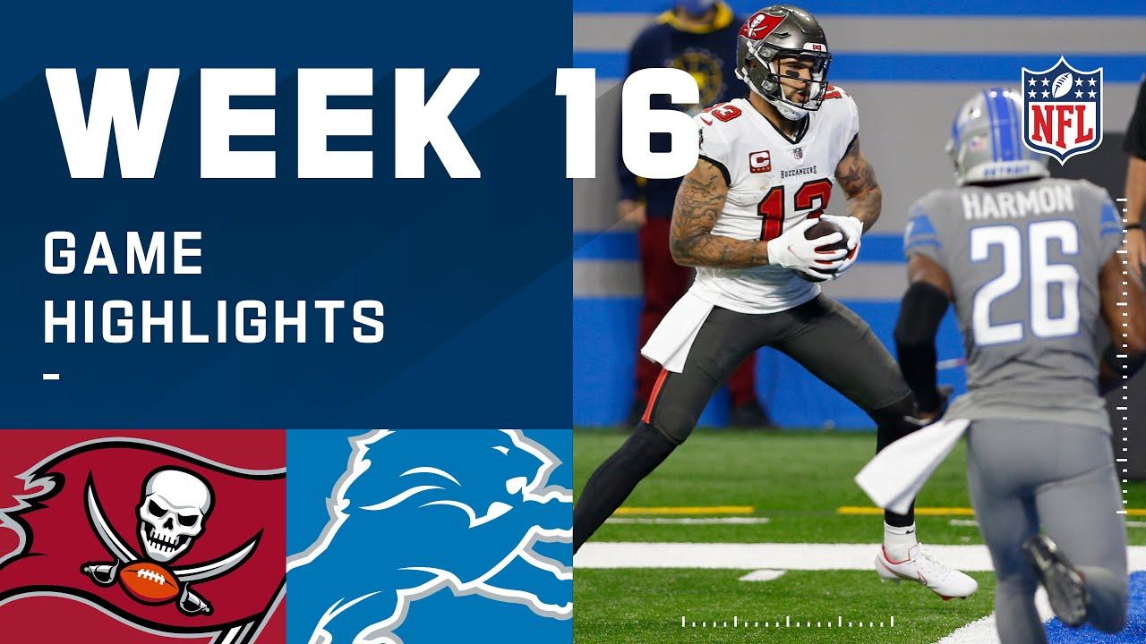 Buccaneers vs. Lions Week 16 Highlights | NFL 2020
