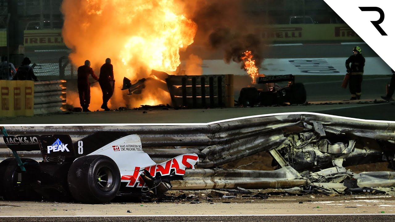 How Grosjean survived fireball Bahrain F1 crash that split his car in two