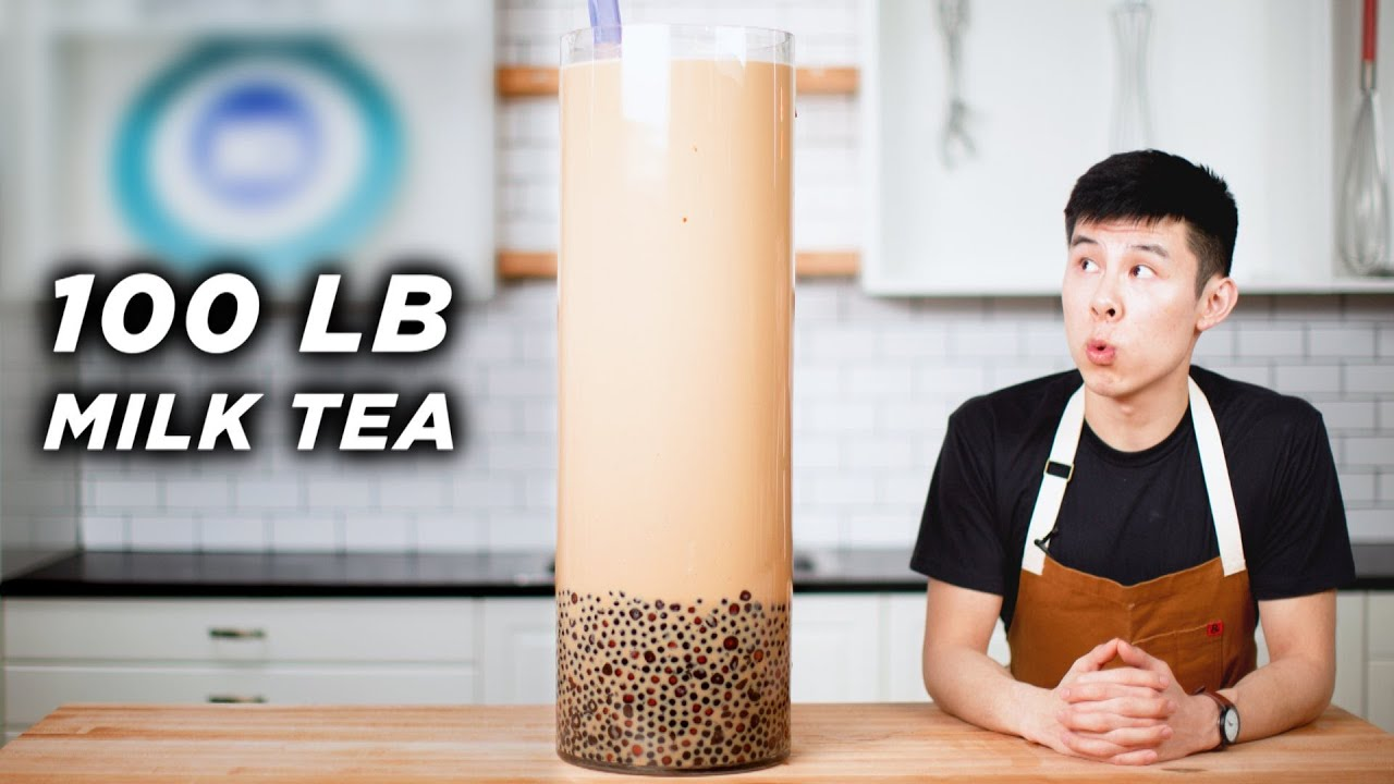 I Made A Giant 100-Pound Boba Milk Tea • Tasty