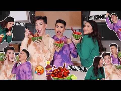 MAKING JAMES CHARLES TRY A MEXICAN ANTOJITO WITH LAURA!! | Louie's Life