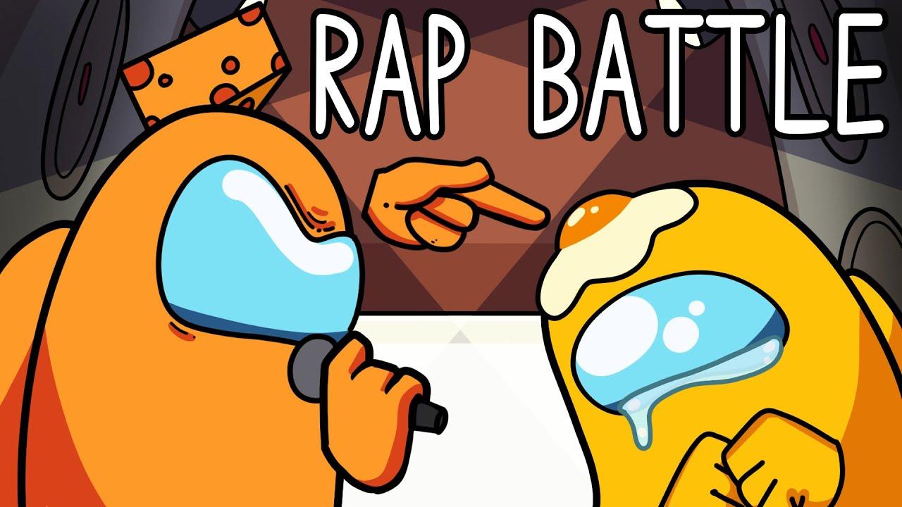 """Mr. Cheese vs. Mr. Egg"" Among Us Song (Animated Rap Battle)"