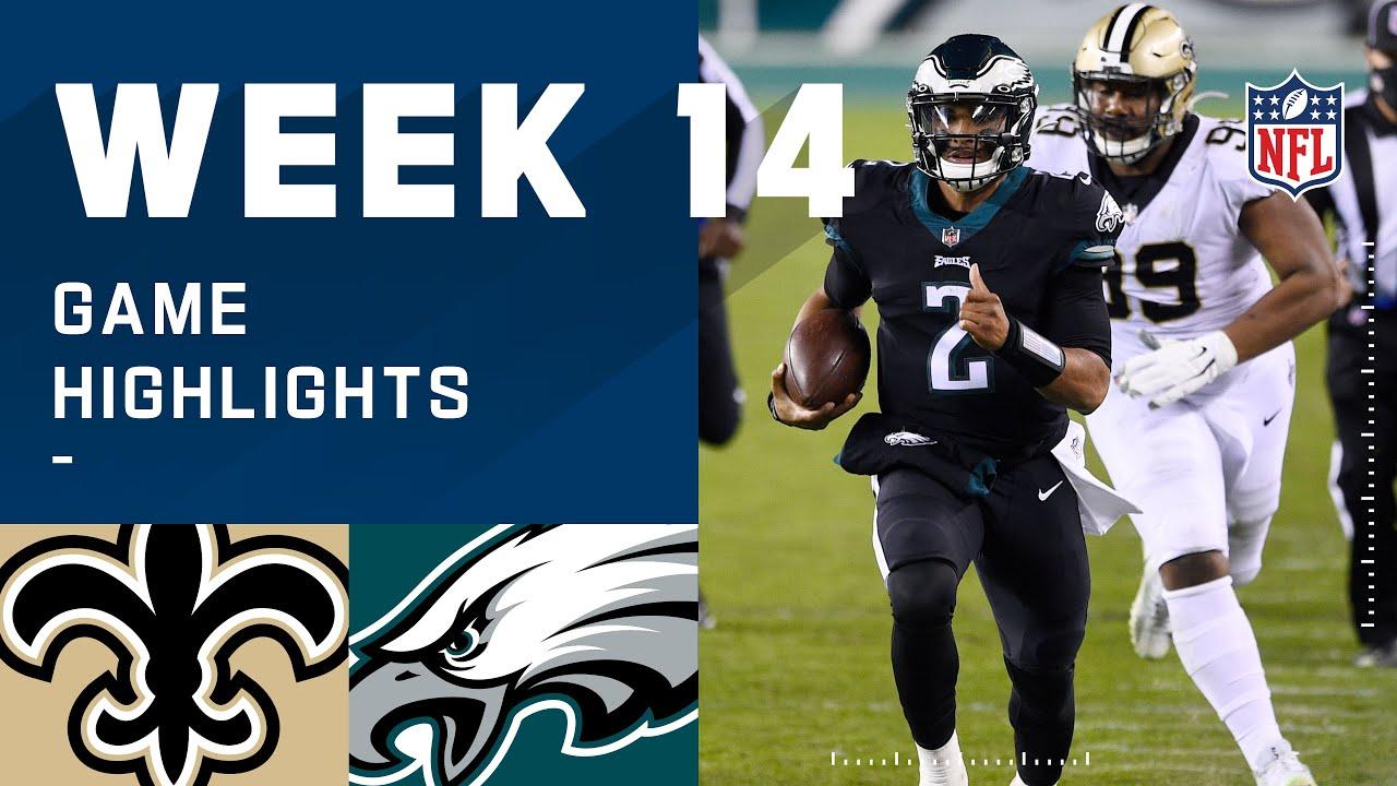 Saints vs. Eagles Week 14 Highlights | NFL 2020
