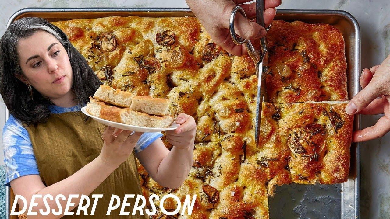 Soft & Crispy Focaccia   Claire Saffitz   Dessert Person