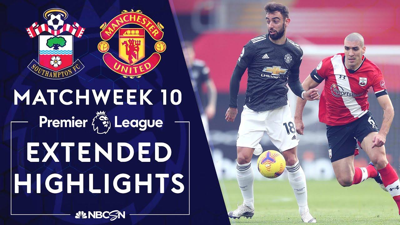 Southampton v. Manchester United | PREMIER LEAGUE HIGHLIGHTS | 11/29/2020 | NBC Sports