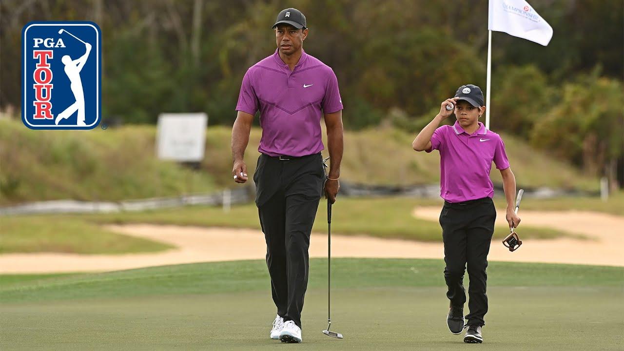 Tiger & Charlie Woods shoot 10-under 62 | Round 1 | PNC Championship