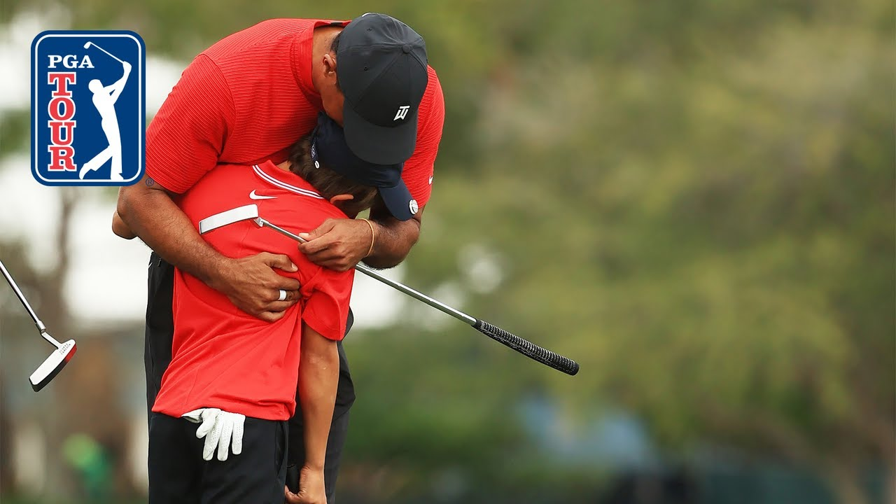 Tiger & Charlie Woods shoot 10-under 62   Round 2   PNC Championship