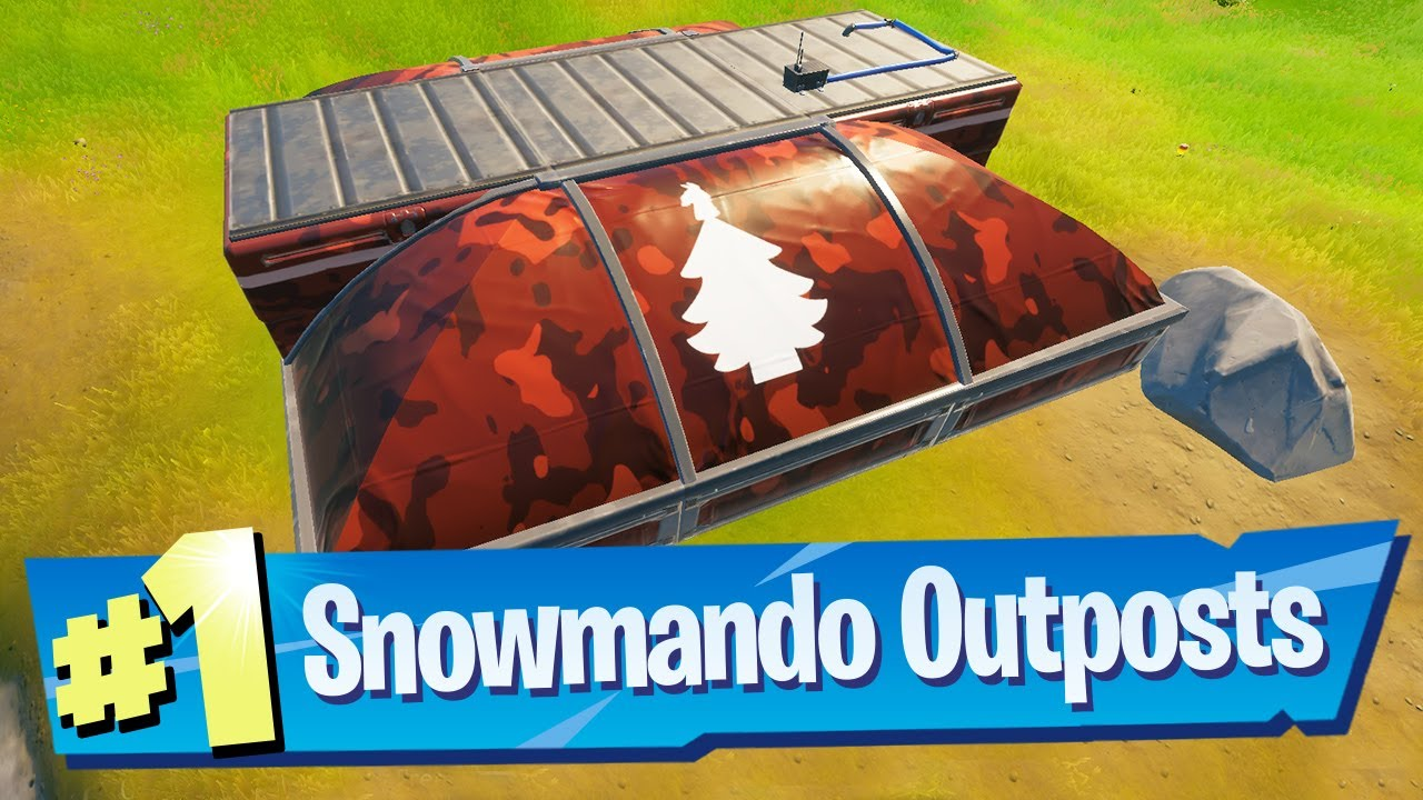 Visit different Snowmando Outposts and Search Chests Location – Fortnite (Operation Snowdown)