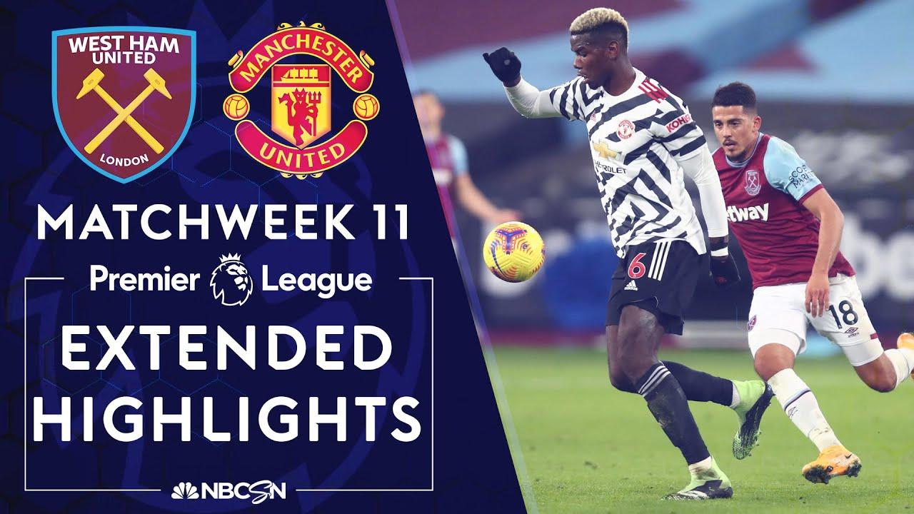 West Ham v. Manchester United | PREMIER LEAGUE HIGHLIGHTS | 12/5/2020 | NBC Sports