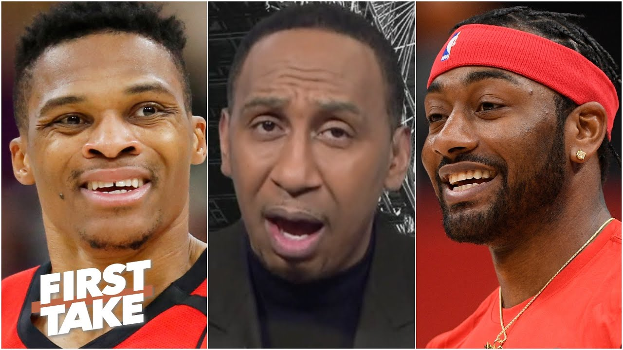 Why would the Rockets do this deal? Stephen A. reacts to the Westbrook for Wall trade | First Take