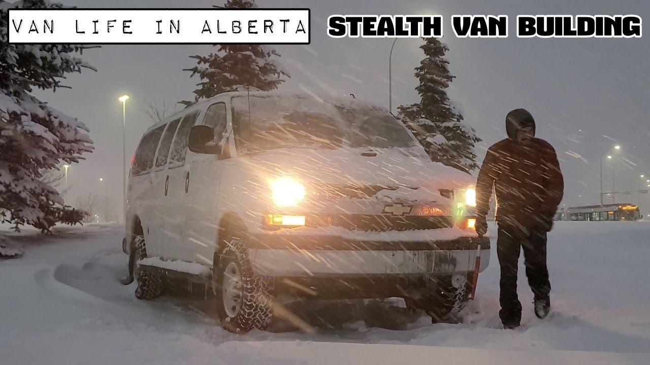 Winter Van Life – Stealth Van Building – Diesel Heater Install