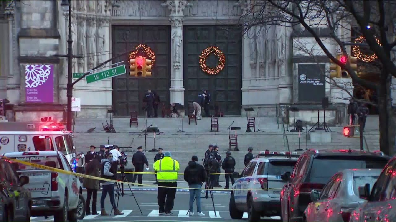 Witness describes chaos at Manhattan cathedral when gunman opens fire after Christmas concert