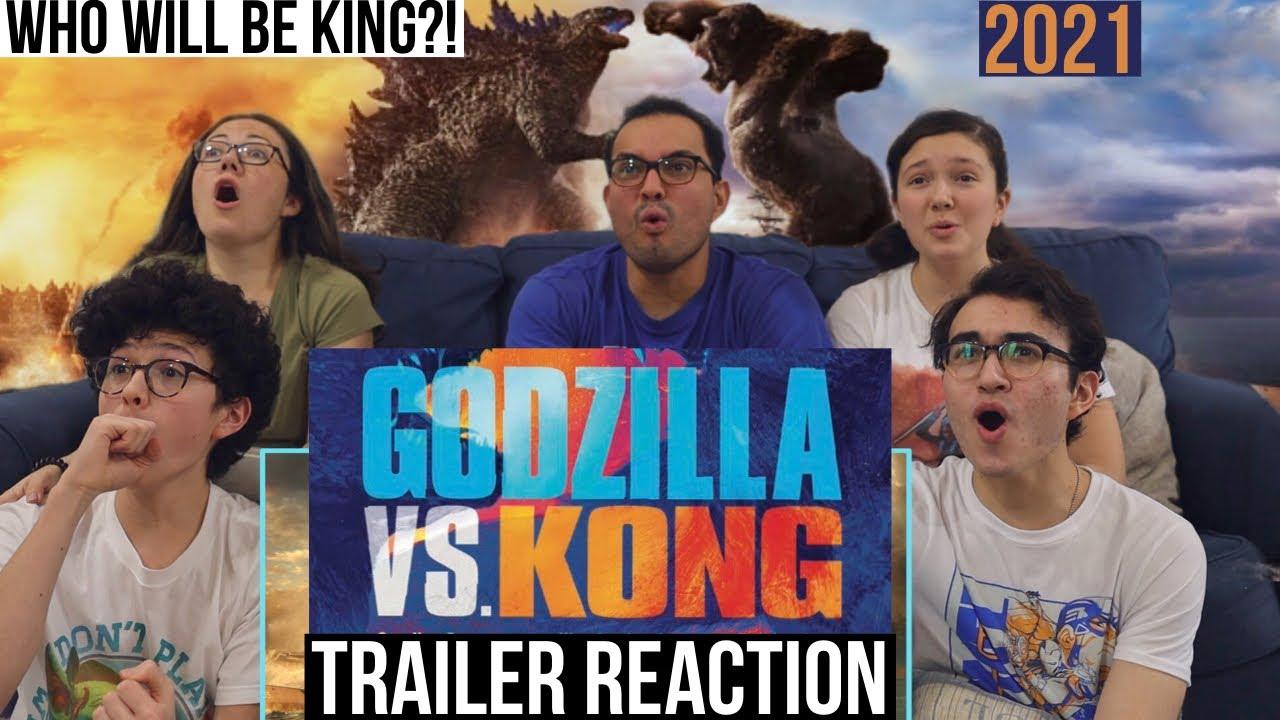 GODZILLA VS KONG Trailer REACTION! || MaJeliv Reactions | Who Will be KING?!