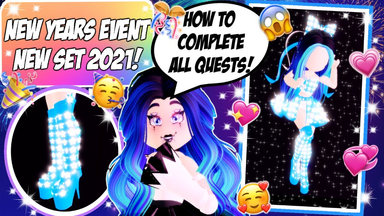 HOW TO COMPLETE ALL QUESTS OF THE NEW YEARS EVENT 2021! I Roblox: Royale high