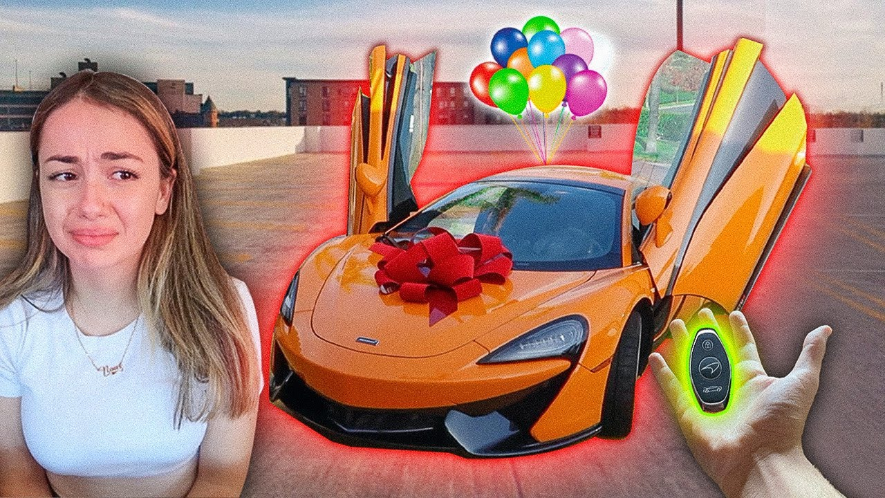 I RUINED her birthday, then surprised her with her DREAM CAR!! **SHOCKING**