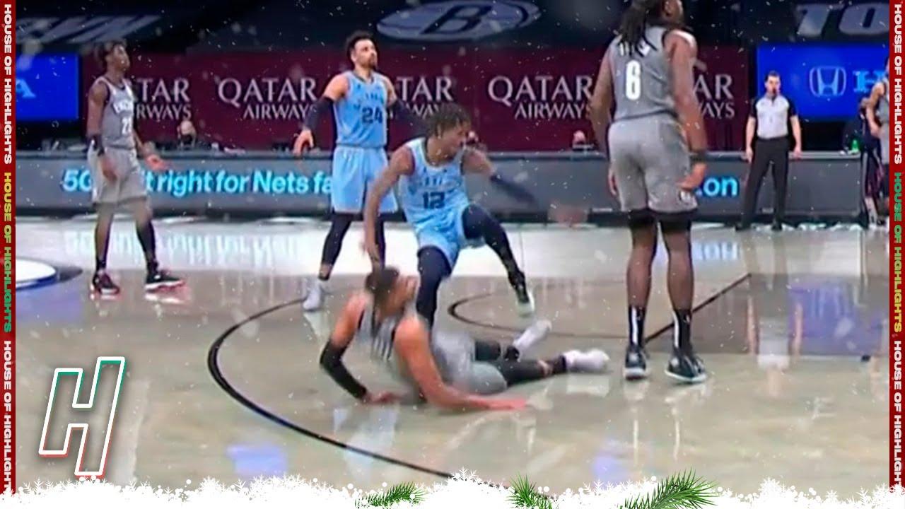 Ja Morant LEG Injury, Taken In a Wheelchair | Grizzlies vs Nets | December 28, 2020