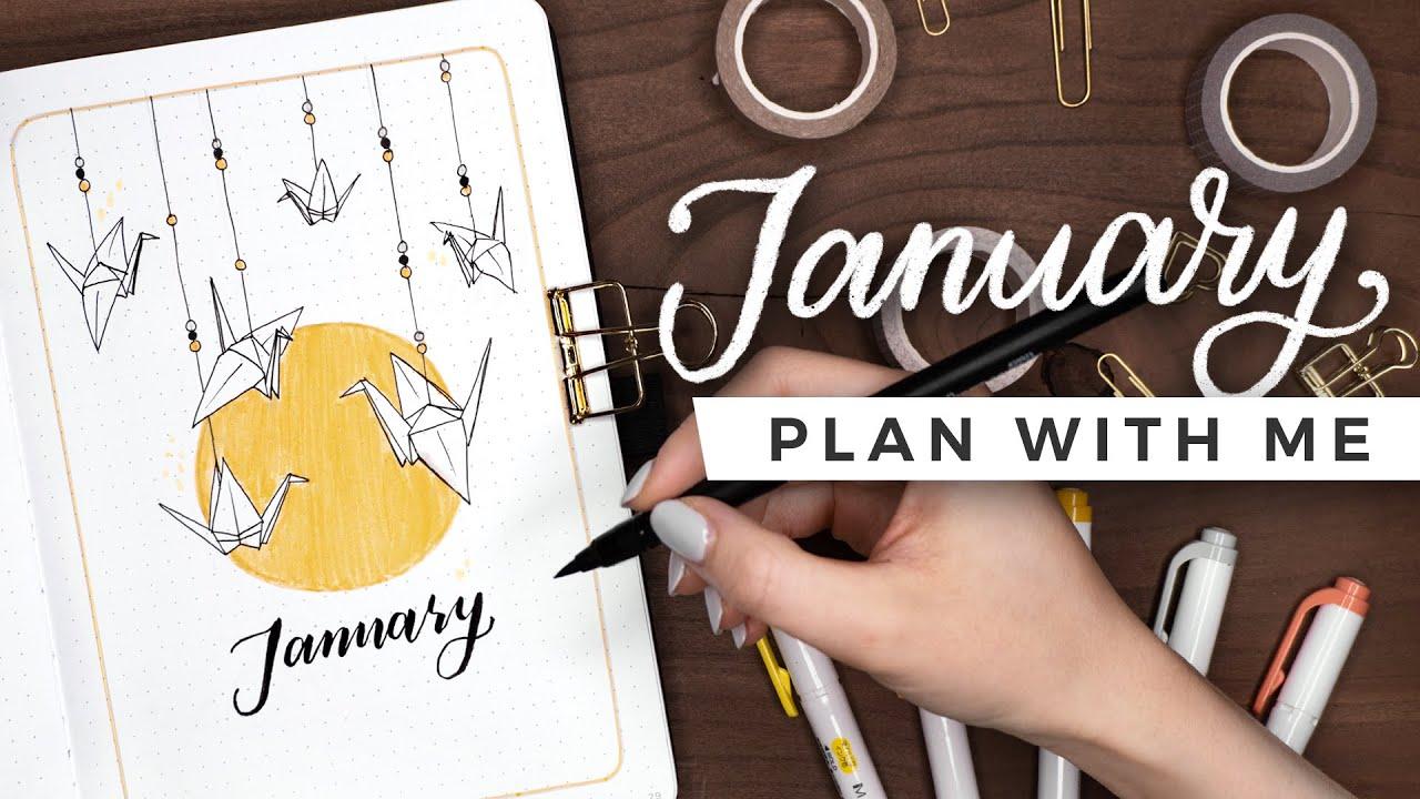 PLAN WITH ME | January 2021 Bullet Journal Setup