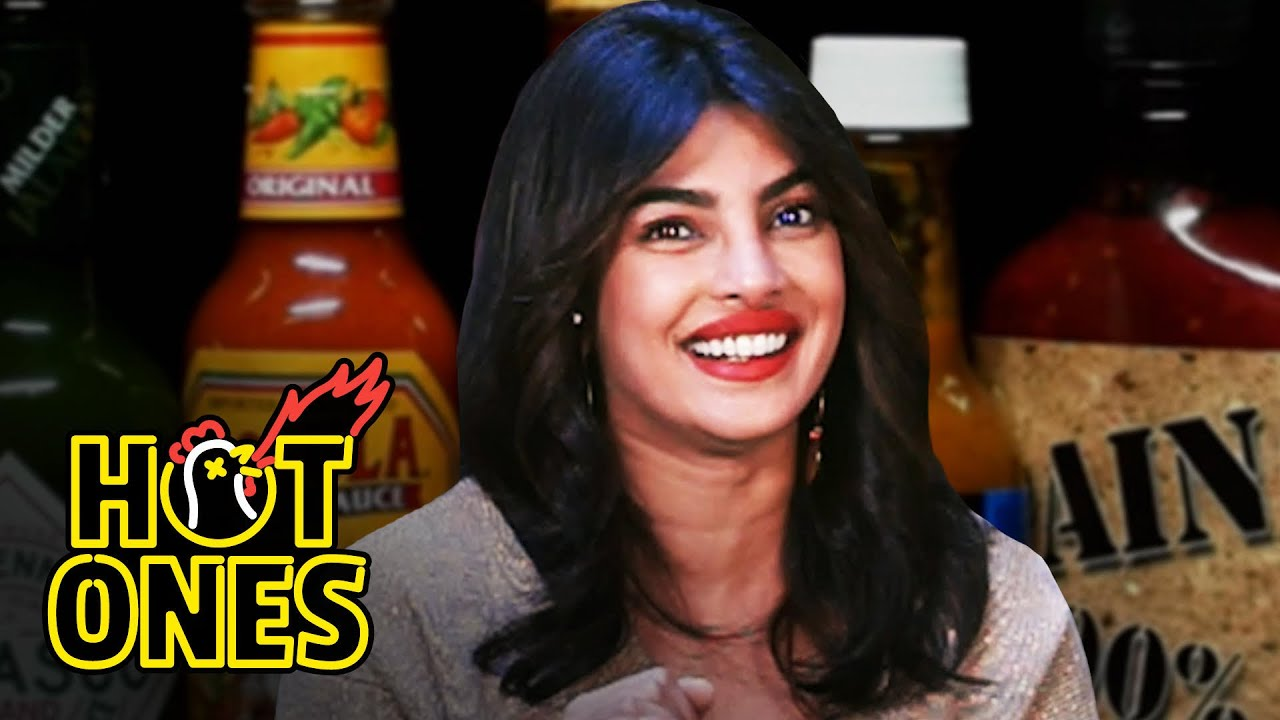 Priyanka Chopra Jonas Explains the Essence of Hot Sauce While Eating Spicy Wings   Hot Ones