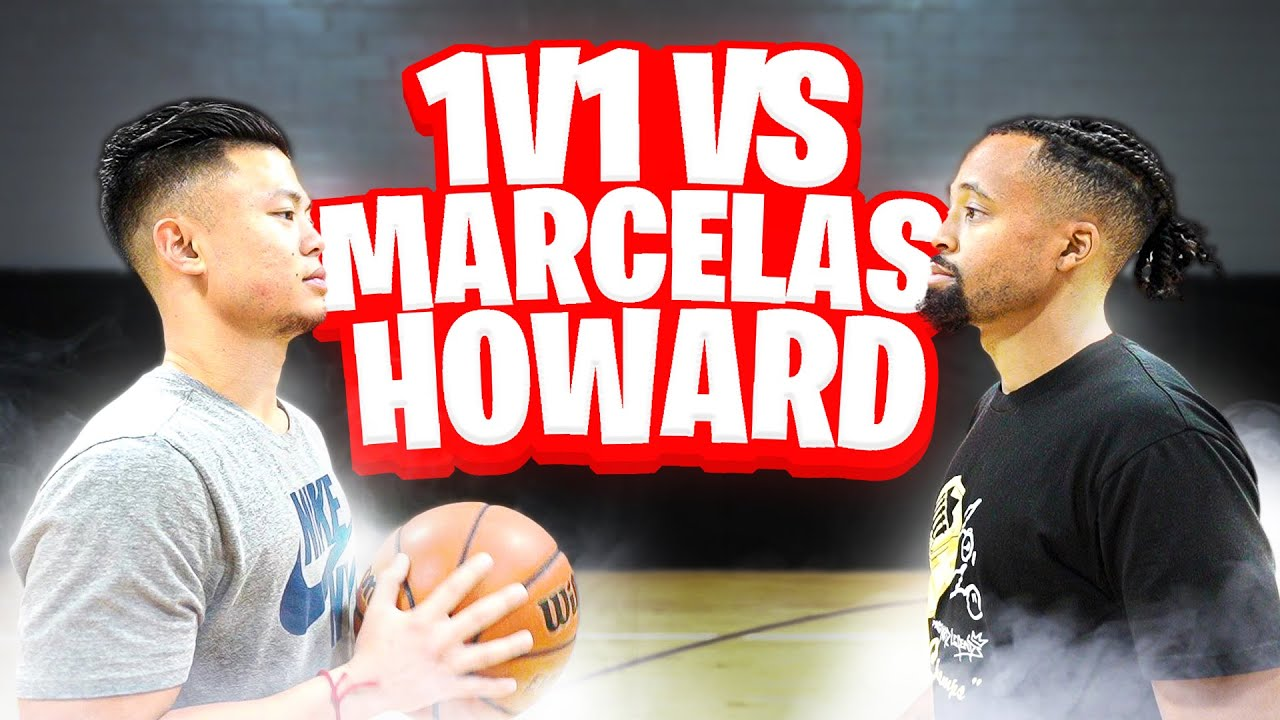 THINGS GOT HEATED! TRASH TALKING 1V1 BASKETBALL AGAINST MARCELAS HOWARD!