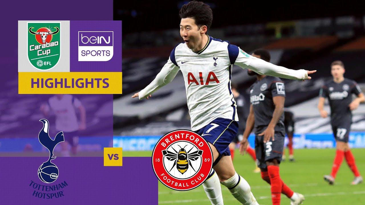 Tottenham v Brentford | Carabao Cup 20/21 | Match Highlights