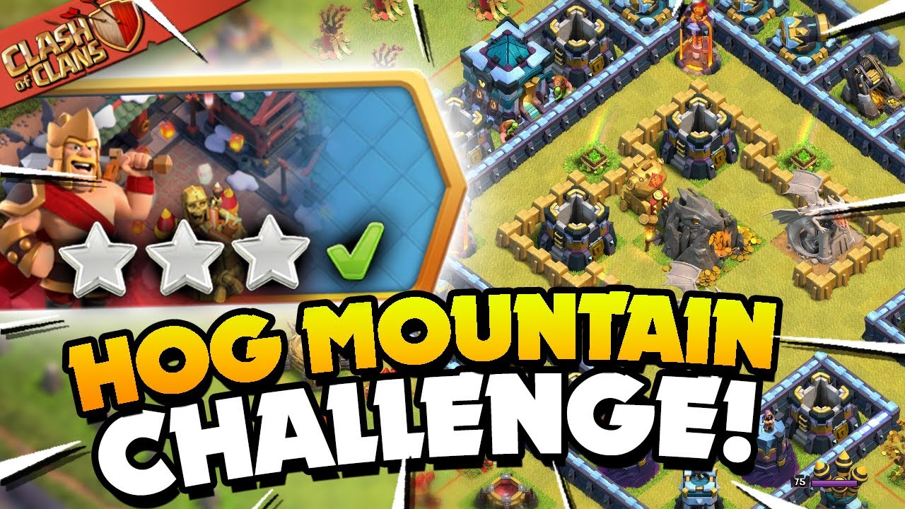 Easily 3 Star the Hog Mountain Challenge (Clash of Clans)