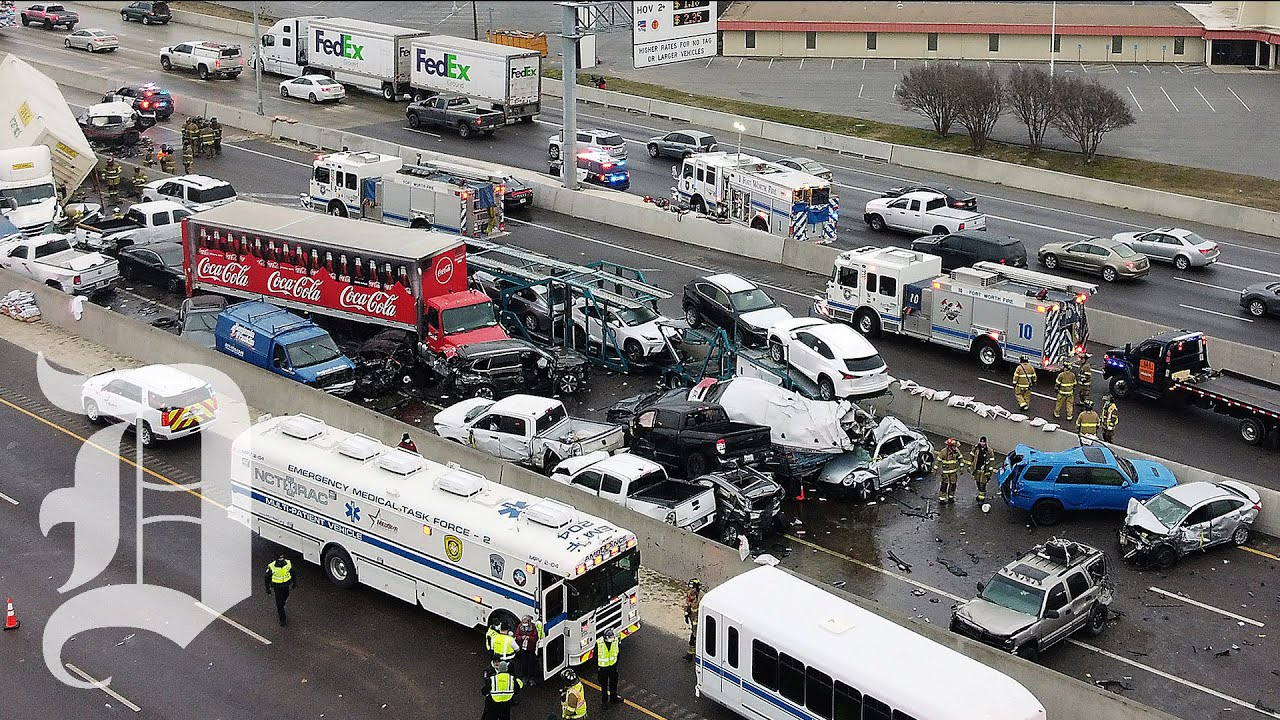 Fort Worth officials speak about the tragic 133-car pileup on icy Interstate 35W
