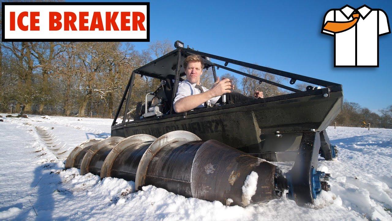 HOMEMADE SCREW TANK Snow/Ice Test