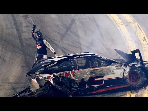 """He wrecked me for the win. Son of a ____!"" 