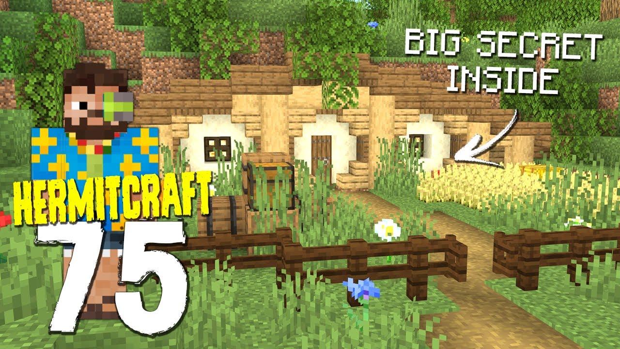 HermitCraft 7: 75 | Secret Hobbit Hole Base!